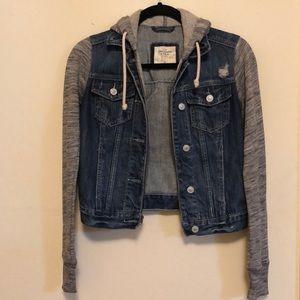 Abercrombie and Fitch denim jacket sweatshirt